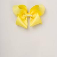 Naglavni okrasek pentlja - lasnica (intenzivno rumena)